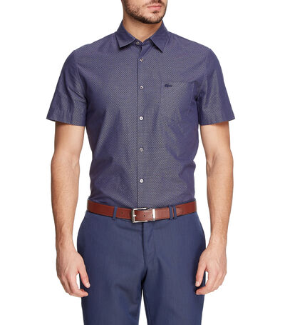 Camisa con rombos manga corta Hombre, , large