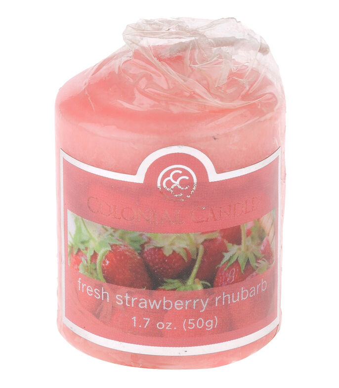 Colonial Candle Vela Votive Fresh Strawberry Rhubarb, , large