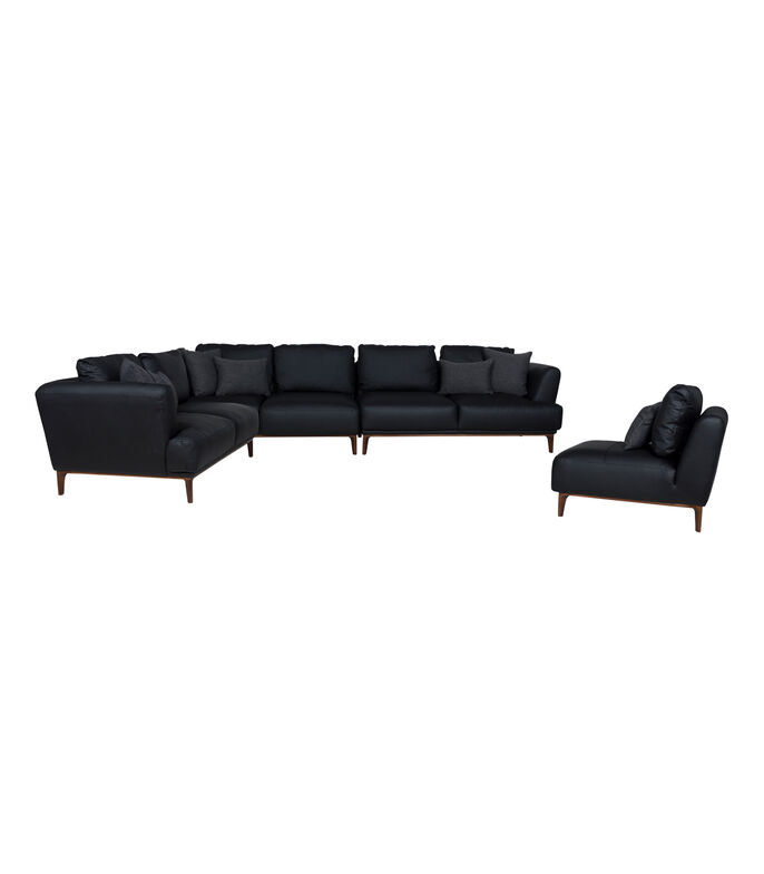 Chaise Lounge Derecho Shell negro, , large