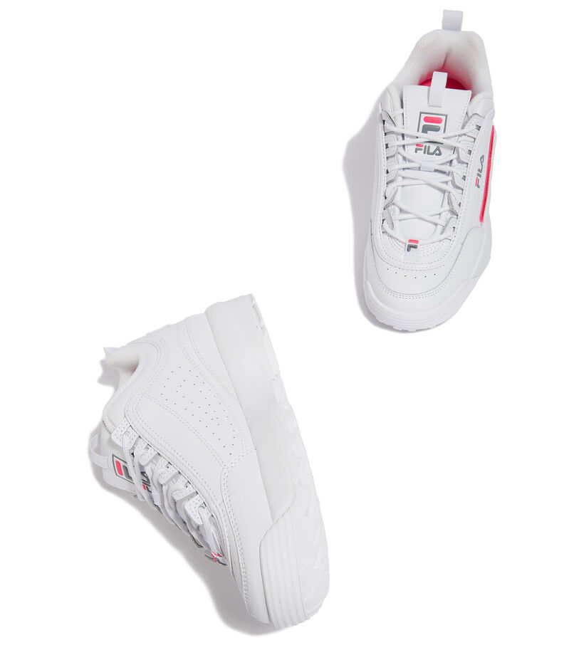 Tenis Disruptor II Logo Reveal Niña, BLANCO, editorial