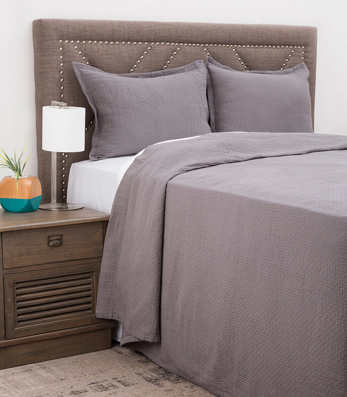 Colcha King Size Coverlet Gris, , large