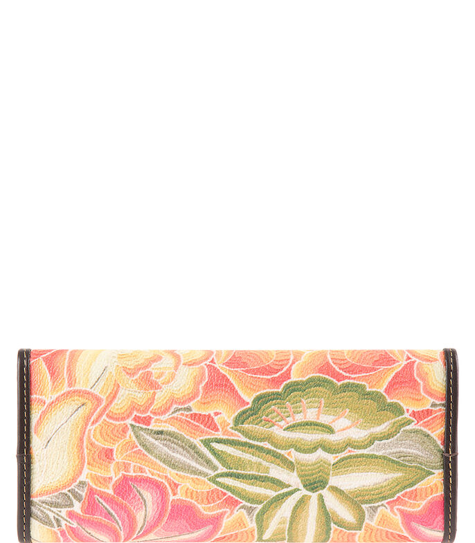 Cartera con flores Mujer, BEIGE, large