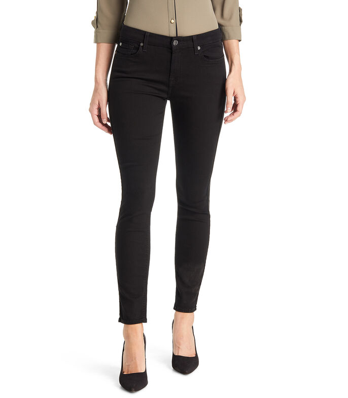 7 For All Mankind Jeans Skinny Mujer, NEGRO, large
