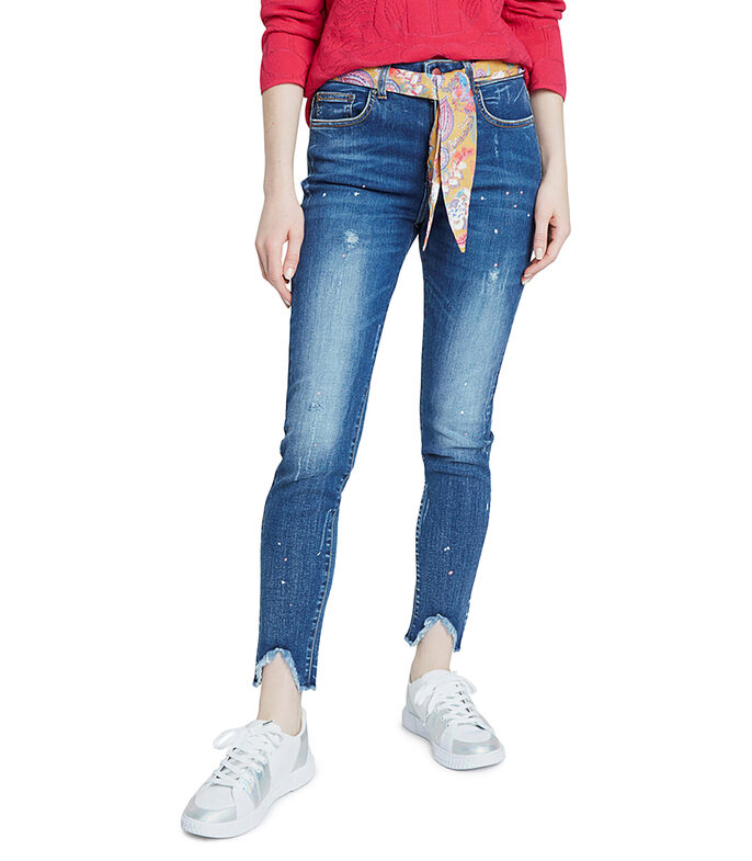 Desigual Jeans Skinny Mujer, AZUL OBSCURO, large