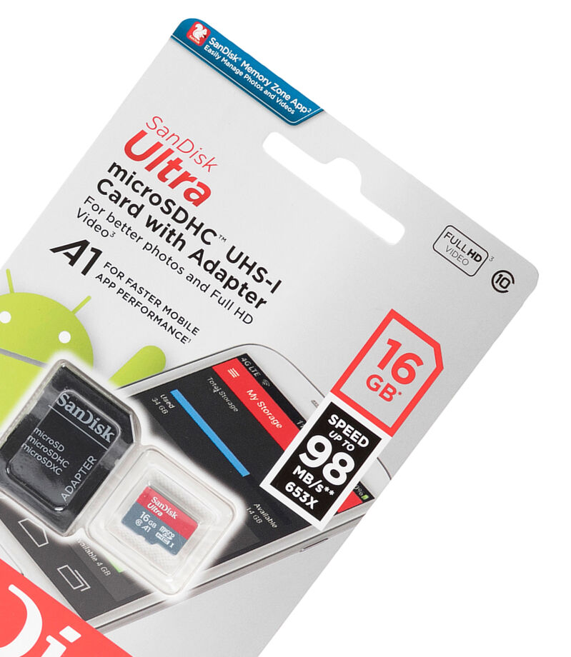 MicroSD Ultra A1 16 GB con Adaptador, , editorial