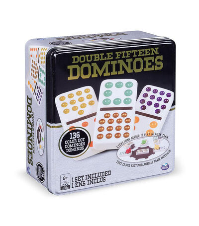 Double Fifteen Dominoes, , large