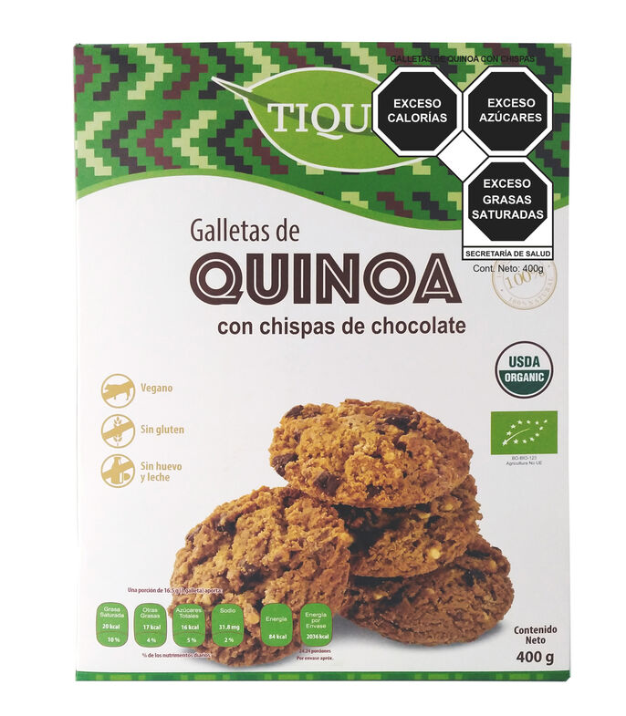 Galletas de Quinoa con chispas de chocolate, 400 g, , large