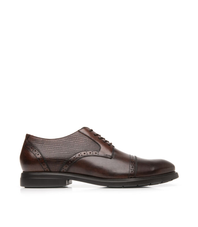 Zapatos casuales Oxford Hombre, CHOCOLATE, large
