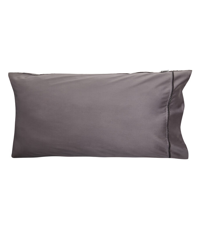 Funda decorativa para almohada King Size Graham Gris Oxford, , large