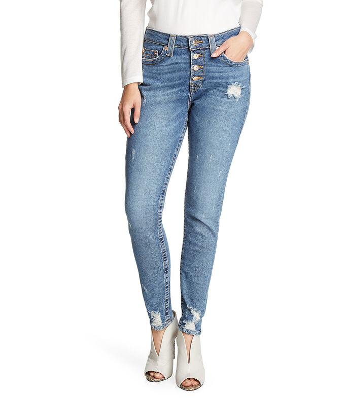 Jeans Skinny Mujer, AZUL, large