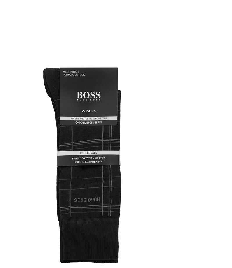 Boss Set 2 Calcetines Hombre, NEGRO, editorial