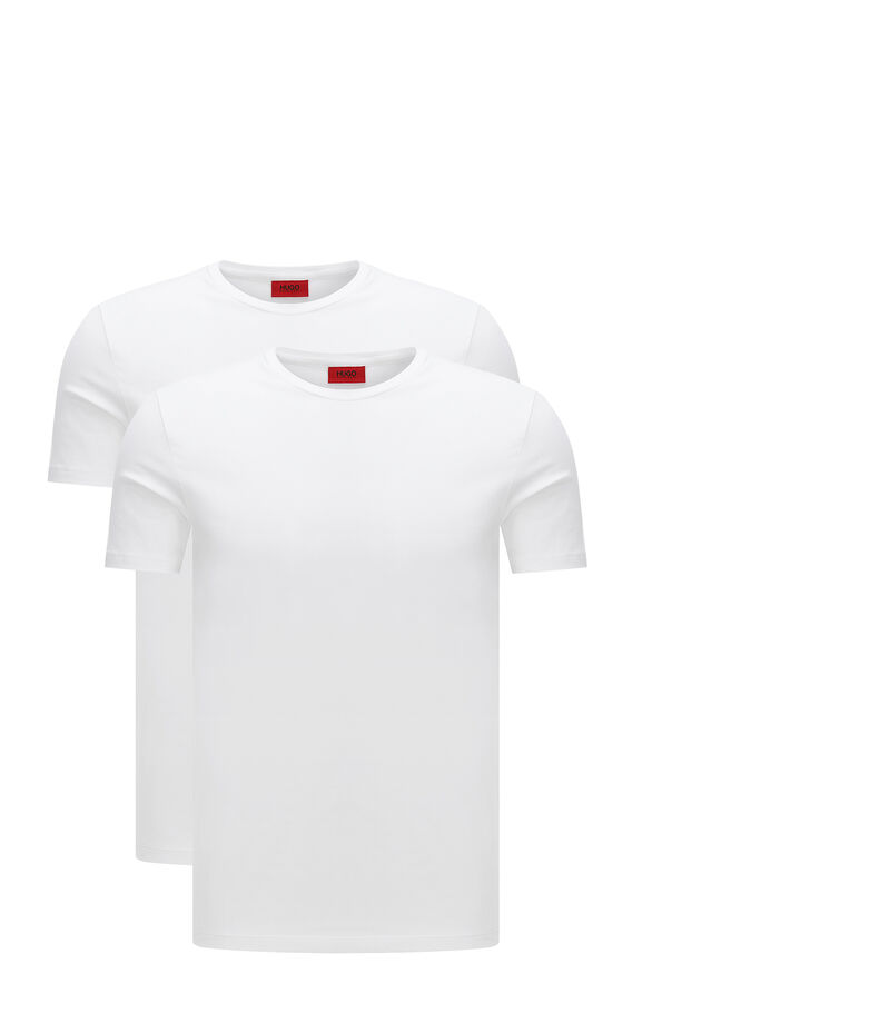 Hugo Set 2 Playeras Hombre, BLANCO, editorial