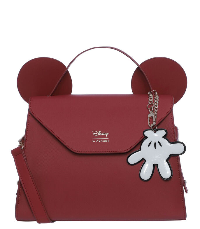 Bolso satchel Mickey and Friends, ROJO, large