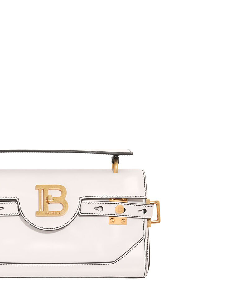 Bolso crossbody en piel, BLANCO, editorial