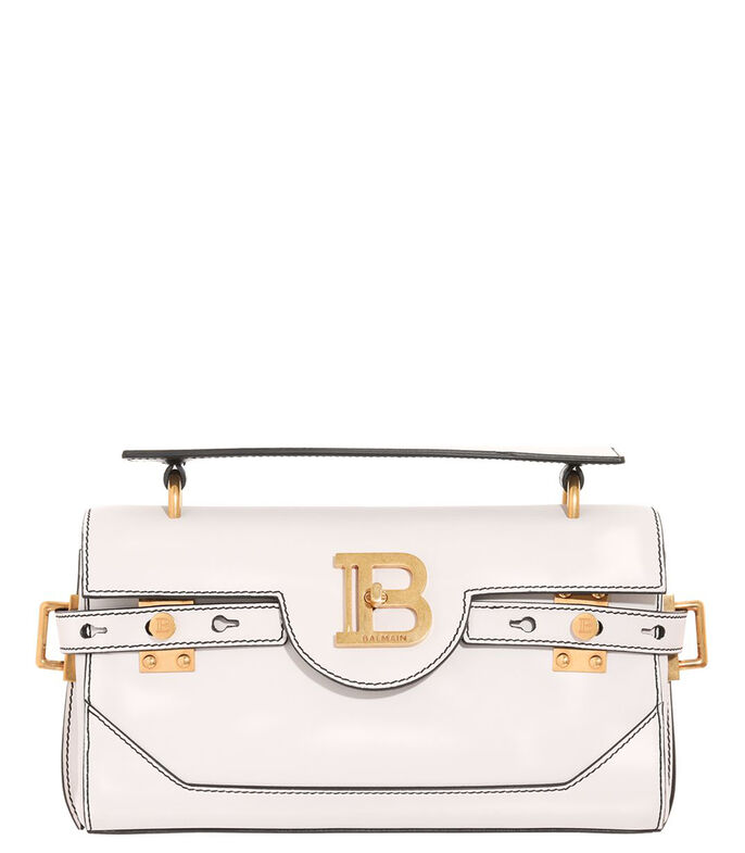 Bolso crossbody en piel, BLANCO, large