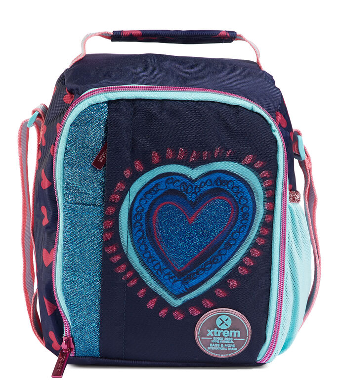 Lonchera Hearts Blue Niños, , large