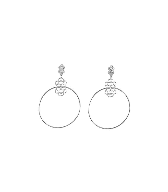 Cuzan Aretes en plata Símbolo Real Mujer, , large