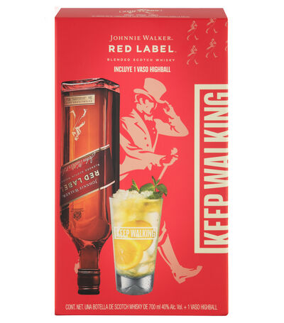 Whisky Red Label, 700 ml + Vaso, , large