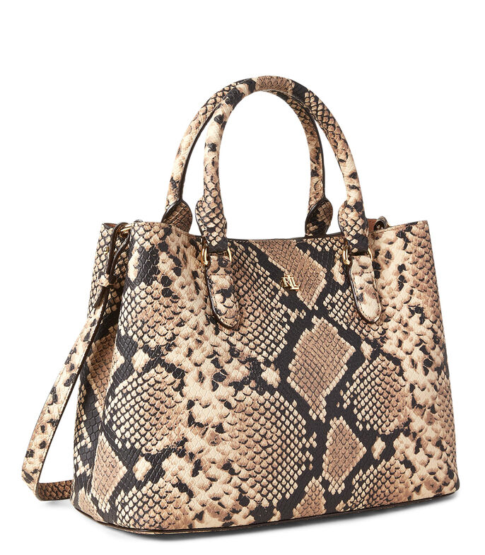 Bolso satchel en piel animal skin, , large