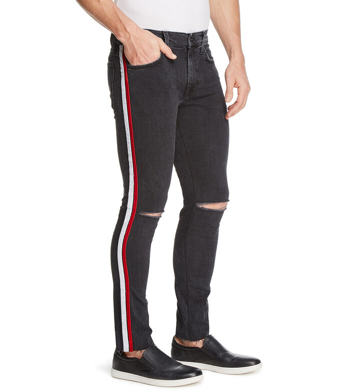 Jeans Recto Hombre, NEGRO, large
