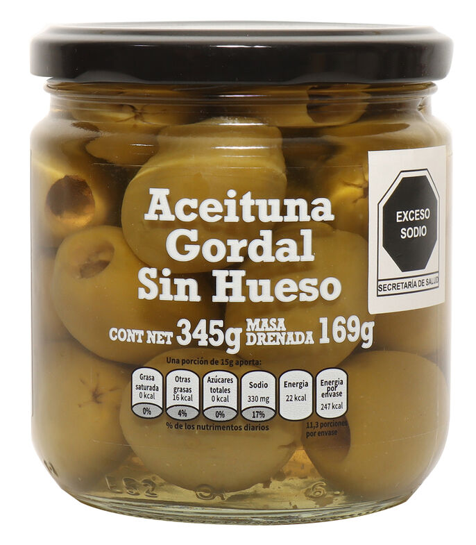 Aceituna Gordal Sin Hueso, 345 g, , large