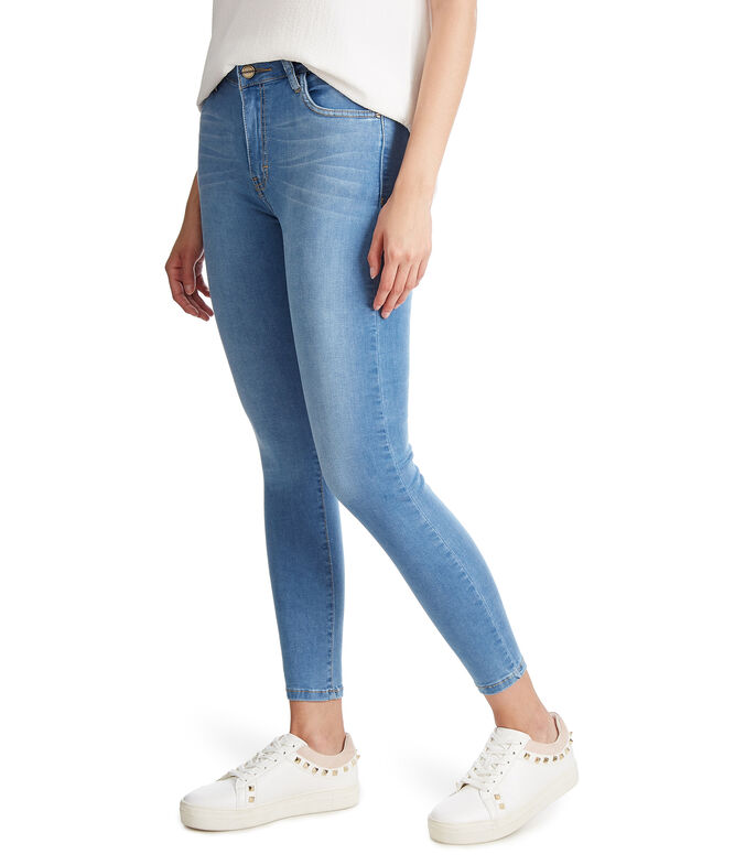 Jeans Skinny Mujer, AZUL MEDIO, large