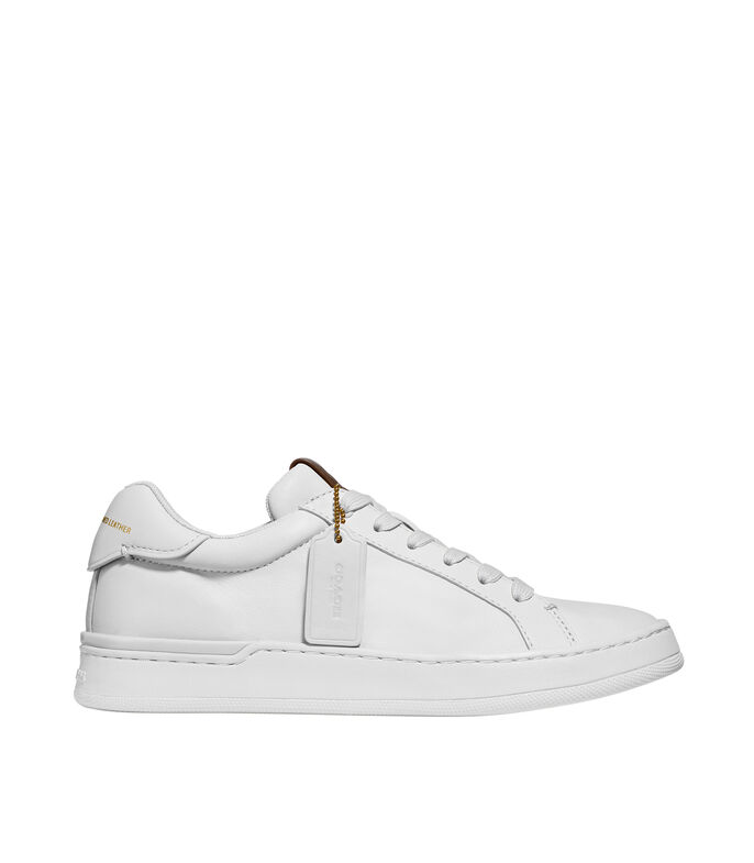 Tenis Lowline Luxe Leather Mujer, BLANCO, large
