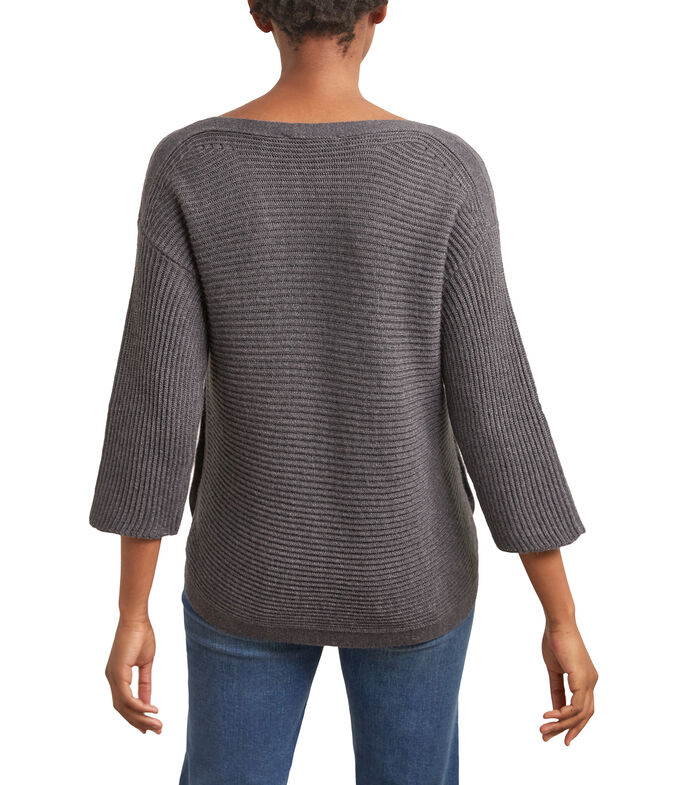 Suéter cuello redondo Mujer, GRIS, large