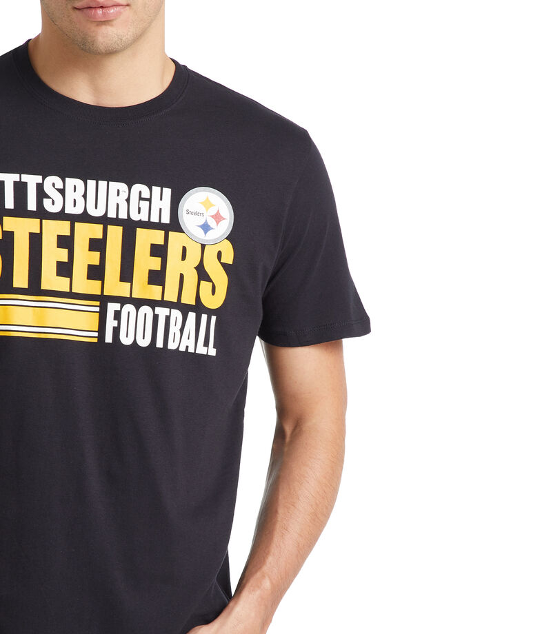 Playera Pittsburgh Steelers Hombre, NEGRO, editorial