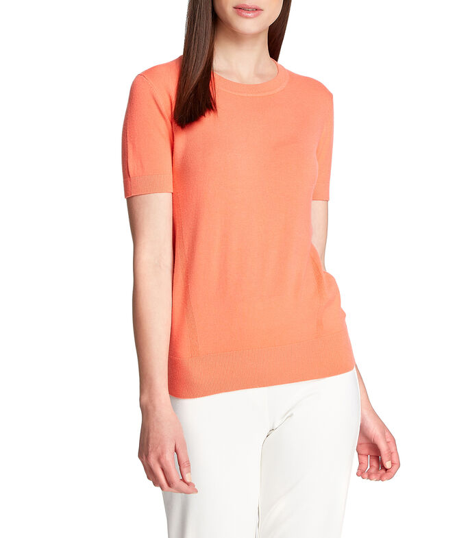 Suéter cuello redondo Mujer, CORAL, large
