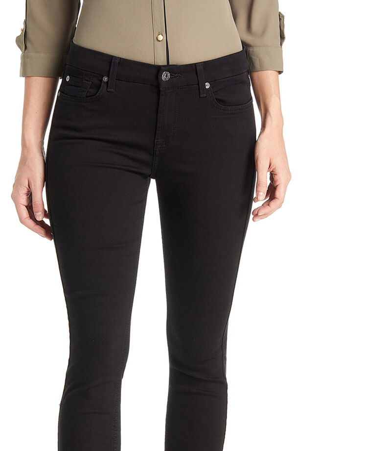 7 For All Mankind Jeans Skinny Mujer, NEGRO, editorial