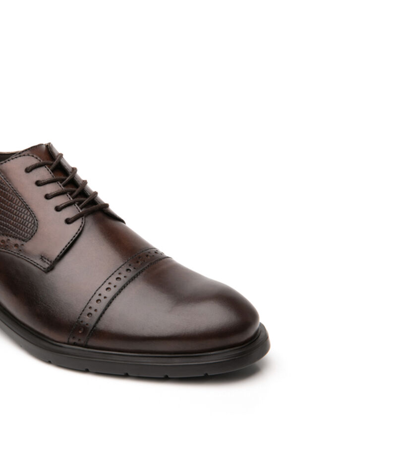 Zapatos casuales Oxford Hombre, CHOCOLATE, editorial