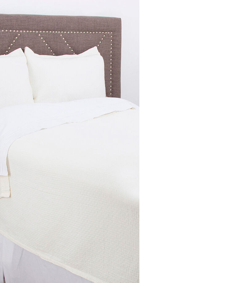 Colcha Coverlet King Size blanco, , editorial