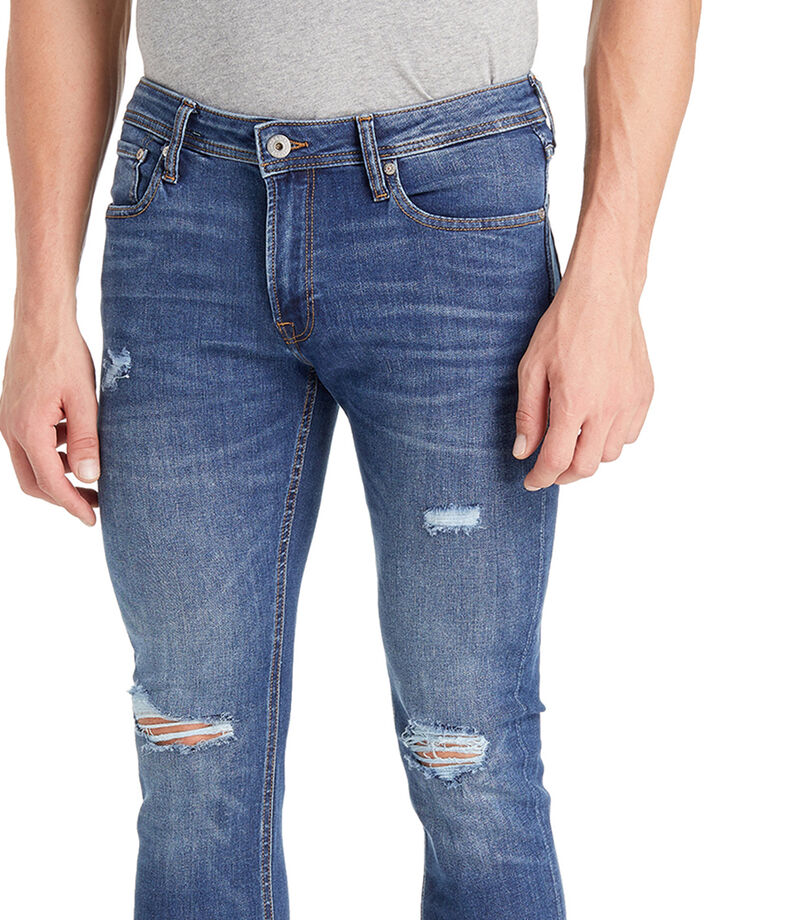 Jeans Skinny Hombre, AZUL, editorial