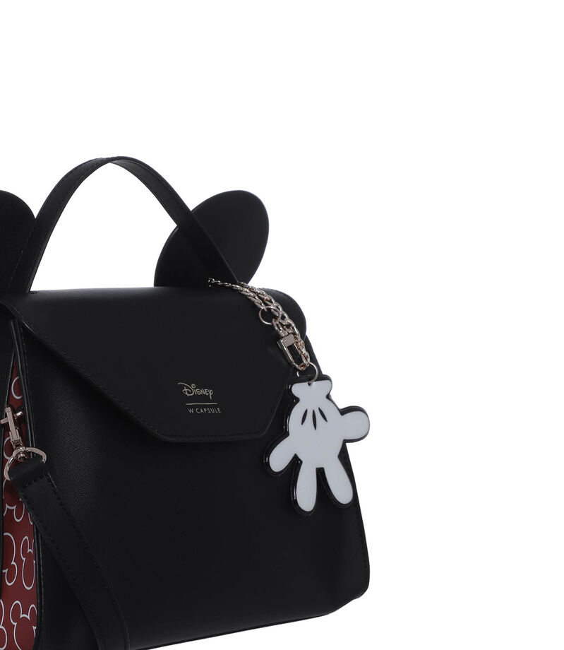 Bolso satchel Mickey and Friends, NEGRO, editorial