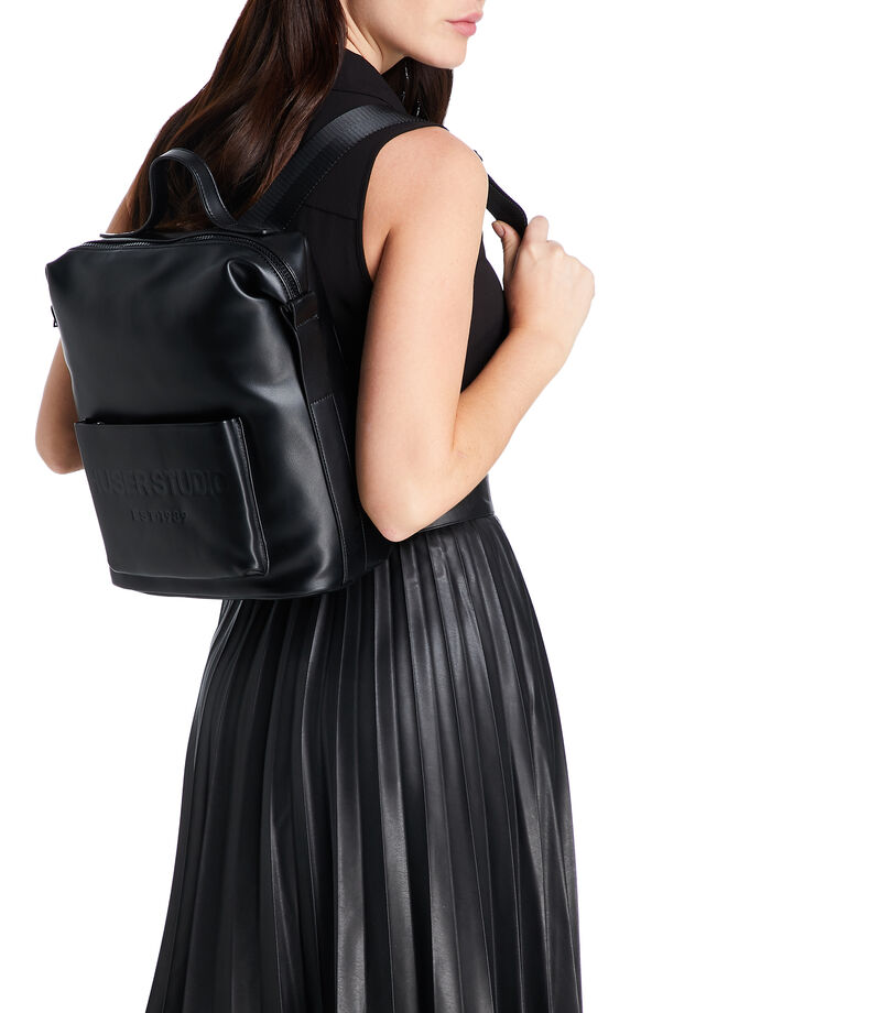 Bolso backpack, NEGRO, editorial