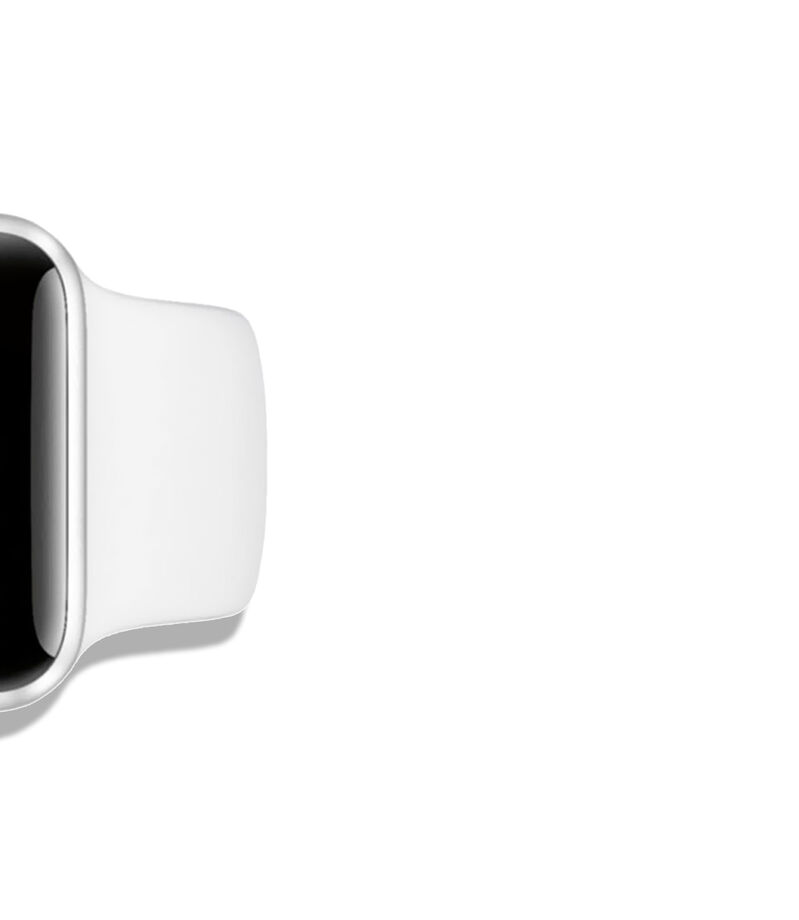Apple Watch Series 3, 38 mm, Plata/Blanco, , editorial