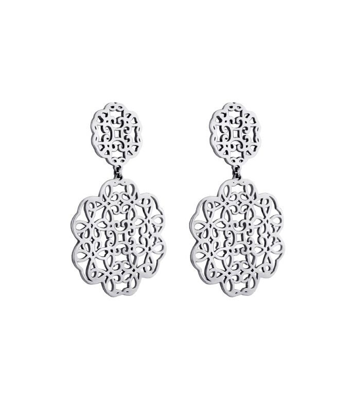 Cuzan Aretes en plata Madre Selva Mujer, , large