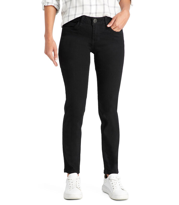 Jeans Regular Mujer, NEGRO, large