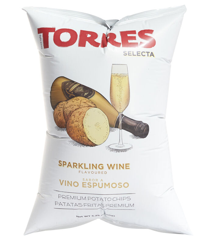 TORRES SELECTA Torres Selecta Sparkling Wine Flavoured Potato Chips, 150g, , large