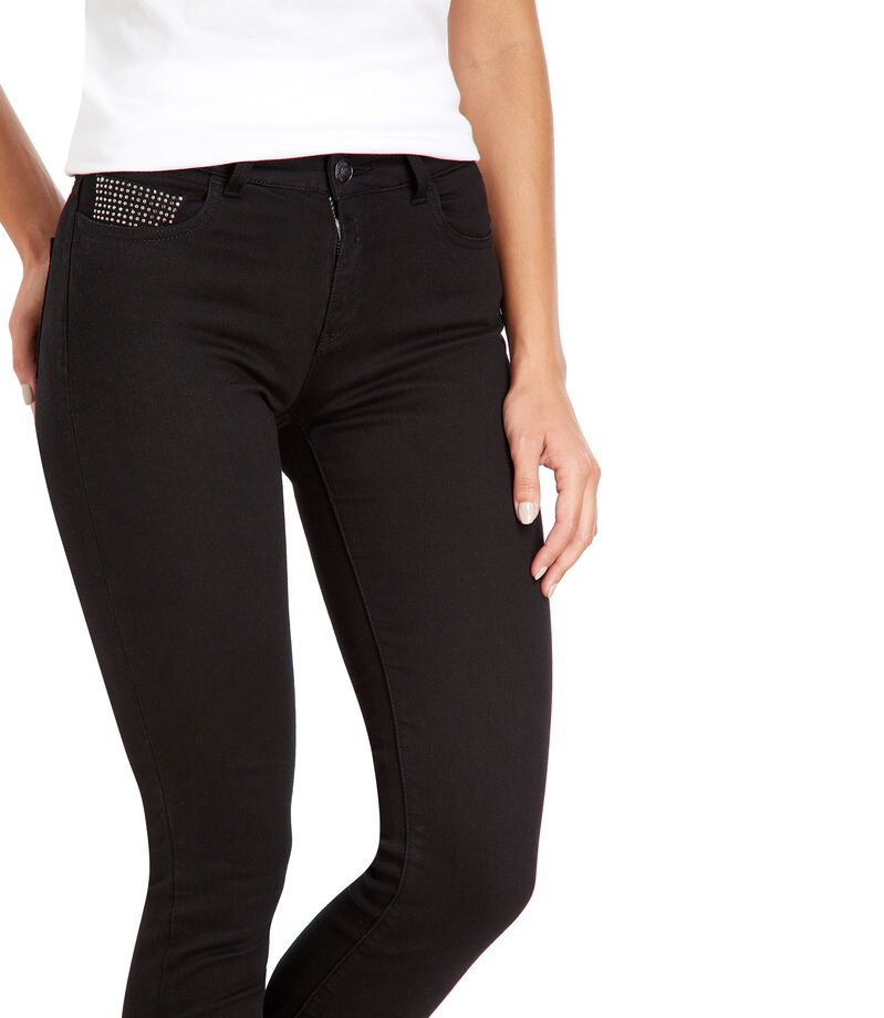 Replay Jeans Slim Fit Mujer, NEGRO, editorial