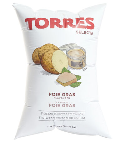 TORRES SELECTA Torres Selecta Foie Gras Flavoured Potato Chips, 150g, , large