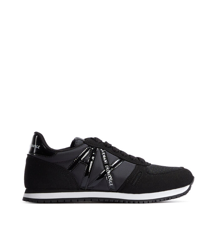 Armani Exchange Tenis casuales Mujer, NEGRO, large